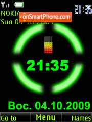 Clock $ colored battery anim theme screenshot