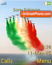 Tricolour Arrows theme screenshot