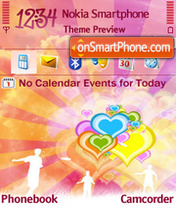 Capture d'écran Colorfull Hearts 01 thème