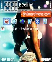 Megan Fox 10 theme screenshot
