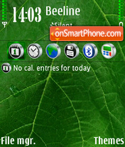 Green 03 theme screenshot