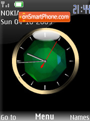 Swf animated clock tema screenshot