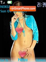 Brunette Girl theme screenshot