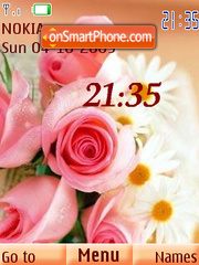 Roses camomile theme screenshot