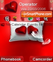 A couple hearts theme screenshot