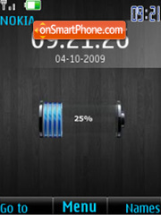Скриншот темы iPhone Battery $ clock