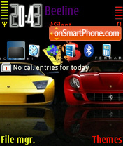 Lambo Vs Ferrari theme screenshot