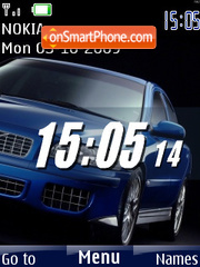 Swf clock car tema screenshot