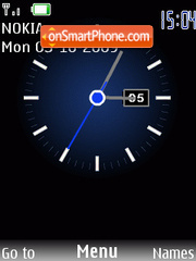Swf blue clock tema screenshot
