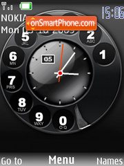 Swf phone clock theme screenshot