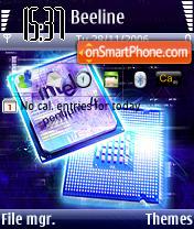 Pentium 4 v1 theme screenshot