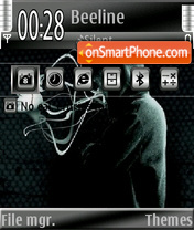 Without face theme screenshot
