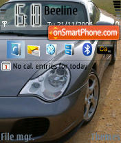 Скриншот темы Porsche 01