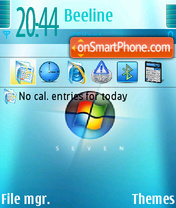 Blue Windows7 theme screenshot