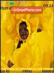Baby in Flower theme screenshot