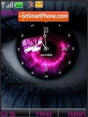 Eyes swf clock es el tema de pantalla