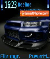 Nissan Skyline 05 es el tema de pantalla