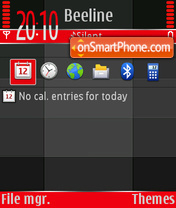 Black And Red 02 theme screenshot