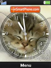 Clock Cat es el tema de pantalla