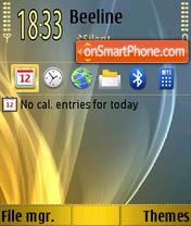 Abstract Gold 01 theme screenshot