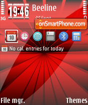 Red classics theme screenshot