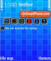 Blue Dreams theme screenshot