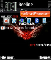 Nokia digital clock theme screenshot