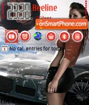 Nfs Most wanted girl es el tema de pantalla
