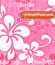 Pink Floral 01 es el tema de pantalla