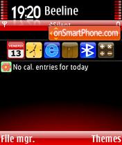Black&Red theme screenshot