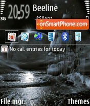 Night sea 01 Theme-Screenshot