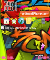 Color graffiti tema screenshot