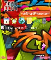 Color graffiti theme screenshot