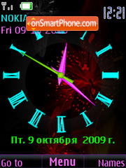 Clock analog colour theme screenshot