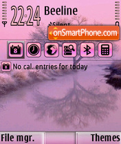Pink landscape theme screenshot