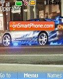 Fast car theme screenshot