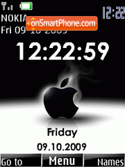 Apple Clock theme screenshot