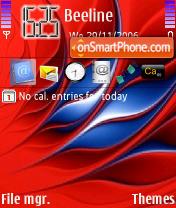 Cool Red tema screenshot