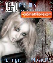 Goth Girl 2 tema screenshot