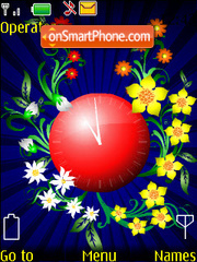 Flowers Flash 1.1 theme screenshot