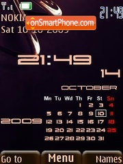 3d abstract calendar theme screenshot
