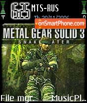 Metal Gear Solid 3 es el tema de pantalla