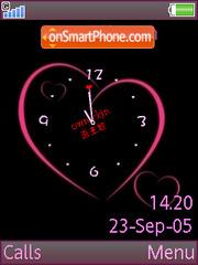 Pink Clock es el tema de pantalla