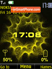 Clock, indicators, yellow anim theme screenshot