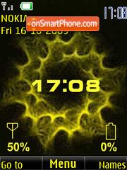 Capture d'écran Clock, indicators, yellow anim thème