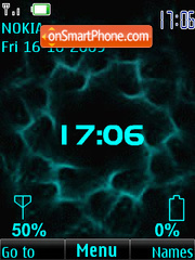 Clock, indicators, blue, anim theme screenshot
