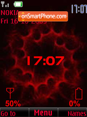 Clock, indicators, red, anim theme screenshot
