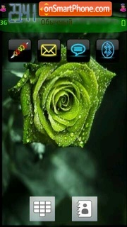 Green Rose 01 theme screenshot