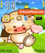 Pig Send Love Theme-Screenshot
