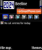 Скриншот темы DarkBlue 01